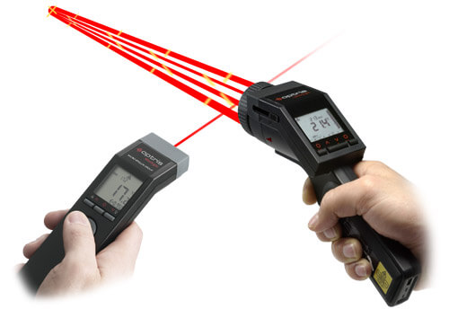 Innovative Handpyrometer mit Laser-Visier