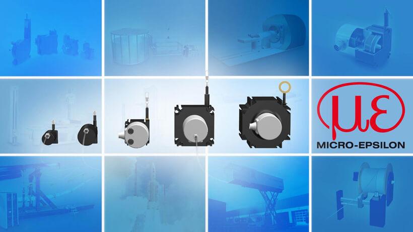 Seilzug-Wegsensoren für Messbereiche bis zu 50 m | Micro-Epsilon ...